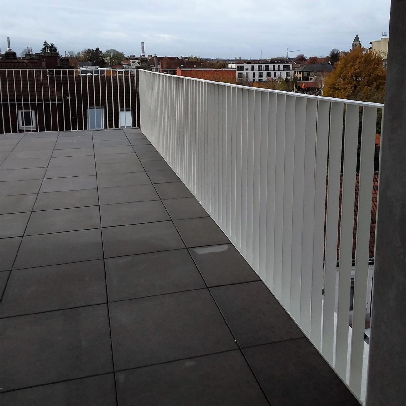 Stalen balustrades verticale spijlen