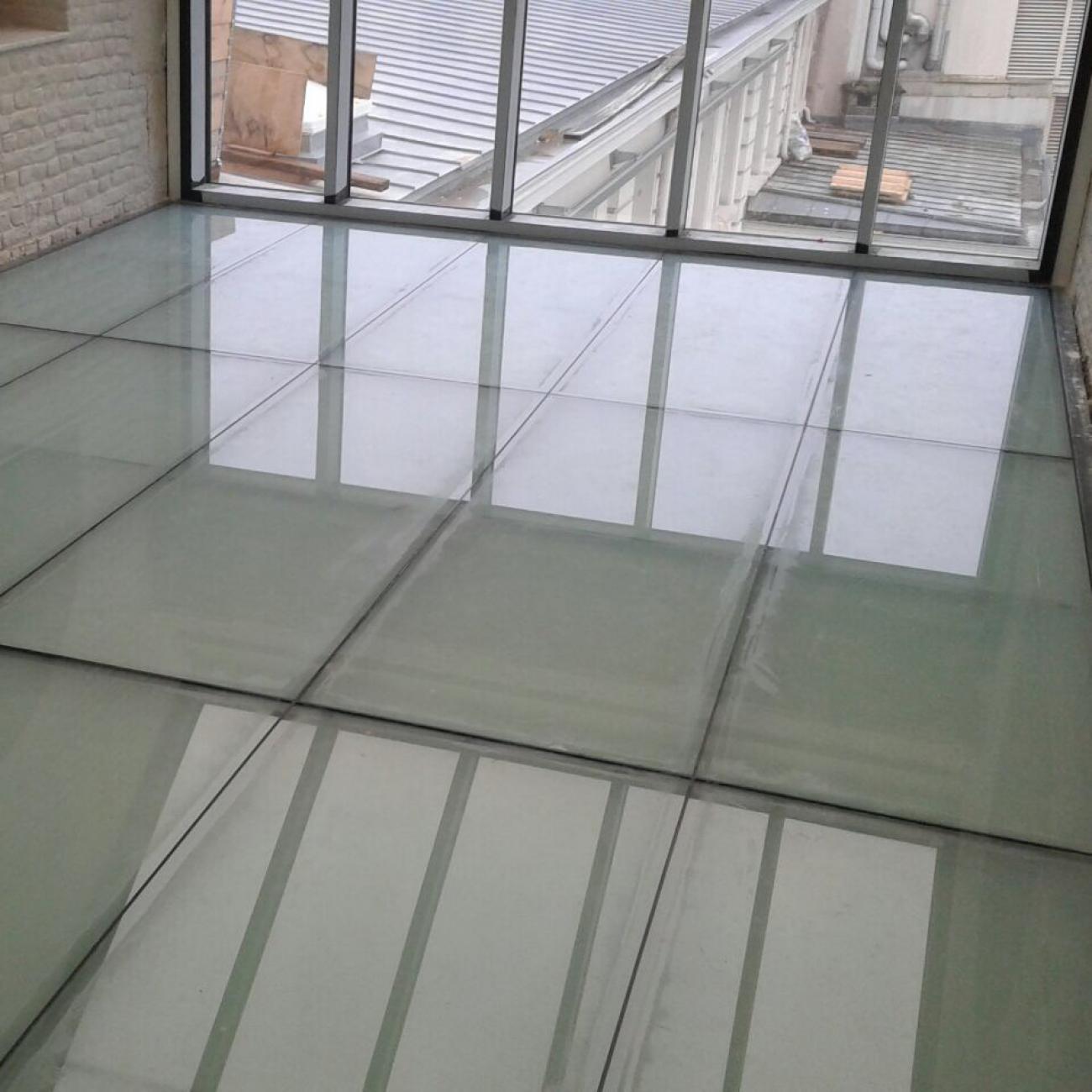 glazen vloer