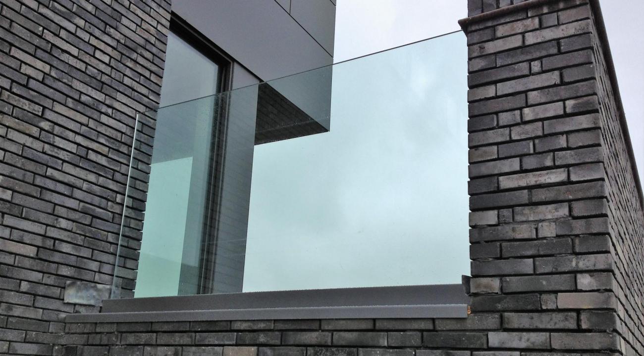 glazen terrasbalustrade